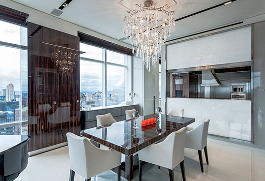 NYC luxury apartment dining