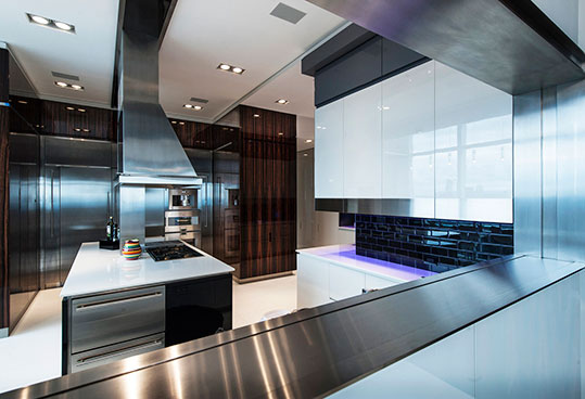 NYC luxury apartment kitchen