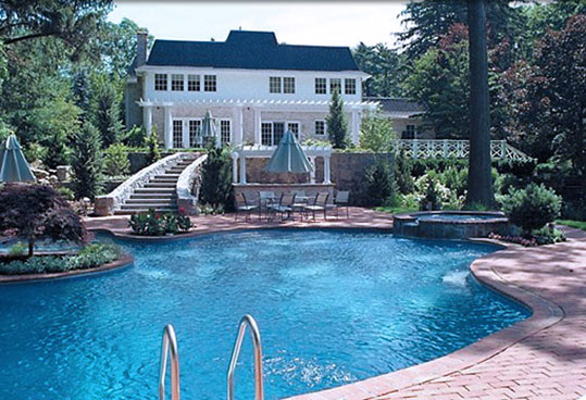 large home swimming pool