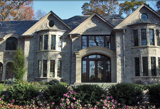 natural stone estate home